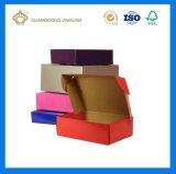 Cadre de expédition de carton ridé par impression colorée avec l'Automatique-Blocage (cadre de expédition de chiquenaude)