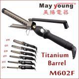 공장 공급 x 작풍 죔쇠 6 크기 자동적인 티타늄 머리 컬러 헤어 아이언