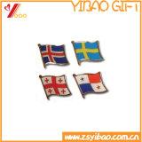 Kundenspezifisches Qualitäts-Markierungsfahnen-Form-Metallabzeichen (YB-SM-01)