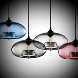 Светильник цветастого стеклянного типа села Vacational тени B50-766 привесной