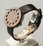 Montres en bois de seule de montre d'homme flèche indicatrice en bois de cavité