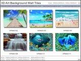 azulejos esmaltados pared del fondo del arte 3D (VPA6A103)