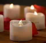 Las velas sin llama Conjunto de 4 Cera verdadera llama del baile LED Velas con mando a distancia de 10 teclas 2/4/6/8 Horas temporizador, color marfil