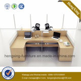 Station de travail moderne en forme de table L de bureau d'usine (HX-NPT023)