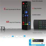 tastiera della radio del mouse dell'aria del T3 di telecomando del USB 2.4G