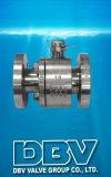 2PCS válvula de esfera industrial da flutuação da flange da alavanca F304