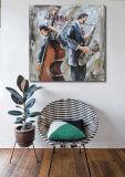 De Kunsten van de muur bij het Olieverfschilderij van het Canvas
