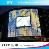 Quadro de avisos video fixo ao ar livre energy-saving da parede do diodo emissor de luz da cor P10 cheia para o anúncio comercial