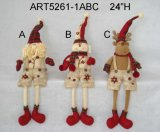 Muñeco de nieve Ornament-3asst. de la carrocería de la bola de la arpillera