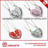 2017 de Halsband van het Hart van het Kristal van de Manier voor de Gift van de Moederdag met Moeder en Dochter