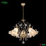 Lustre de cristal de flor moderna com LED de vidro (D-9480/5)