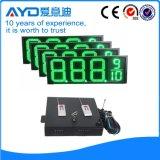 Hidly 12 인치 녹색 미국 LED 주유소 표시
