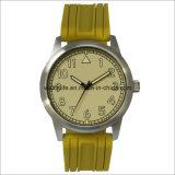 アーム明るいステンレス鋼の水晶人の腕時計