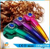 Elétrica Gradiente de cor LED Curler automático de cabelo com Display de temperatura automático mágico modelador de cabelo