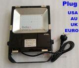 Luz de inundação do diodo emissor de luz do fornecedor 200W 150W 100W 80W 50W 30W 20W 10W de China connosco plugue BRITÂNICO do Au da UE