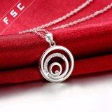 Het promotie Zilver van de Manier van de Gift plateerde Tricyclic Halsband van de Tegenhanger voor Meisje