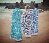タイの染料の円形の曼荼羅浜毛布、ピクニック浜シート、円のビーチタオル、I
