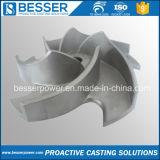 Pieza de acero fundido barata de aleación del impulsor de la precisión del OEM de China para el conjunto de generador