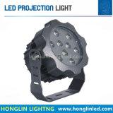 A lâmpada de projeção 3X9w do diodo emissor de luz 27W Waterproof a iluminação ao ar livre