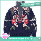 Chandail de crochet tricoté par coutume fabriquée à la main de laines de femmes