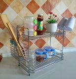 2 de metal do fio da cozinha camadas de cremalheira de prato