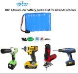Nachladbarer 18650 18.5V 2.2ah Lithium-Ionenbatterie-Satz für elektrisches Tools/LED Licht