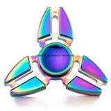 Hilandero de la mano de la persona agitada de la garra del cangrejo del arco iris de la aleación de aluminio
