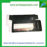 Rectángulo de empaquetado del collar de la pulsera del PVC de la ventana del regalo de encargo del papel