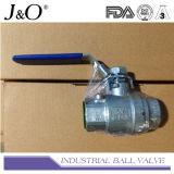 3PC de van een flens voorzien Kogelklep van het Eind Met Direct het Opzetten Stootkussen JIS 10k