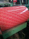 コイルの花デザインカラー亜鉛によって塗られるコイルのPrepainted鋼鉄
