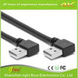 Cable de carga negro del USB