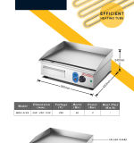 Gril électrique /Griddle, gauffreuses commerciales de plaque plate d'acier inoxydable de /Restaurant d'hôtel