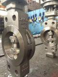 Металл вафли Pn100 CF8 для того чтобы Metal клапан-бабочки триппеля смещенные