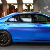 Tsautop neues Luftblase der Ankunfts-1.52*20m freies selbstklebendes Belüftung-Mattsatin-Chrom-Auto, das Vinylverpackung mit Farben der RoHS Bescheinigung-12 einwickelt