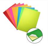 Etiqueta engomada de papel colorida fluorescente para envolver
