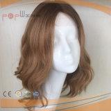 Blondes Farben-langes Jungfrau-Haar-Silk Spitzenperücke