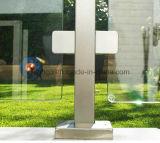 De roestvrije Vierkante Klem van het Glas met Ronde Rug voor het Traliewerk van het Glas van de Trap