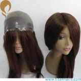 Тонкий Toupee 100% человеческих волос девственницы фронта петли кожи v для женщин