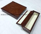 Spezielles Form-Glanz-Ende-Hartholz mit Woodpaper Jewellry Holz-Kasten