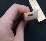 El alumbrador LED del cigarrillo enciende los juguetes del hilandero del dedo de la mano de carga del USB