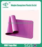 Couvre-tapis à haute densité de yoga NBR de yoga du confort de forme physique respectueuse de l'environnement du couvre-tapis NBR
