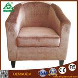 Sofà sezionale del singolo tessuto di cuoio di legno solido moderno del sofà
