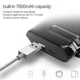 la Banca rapida di potere di carico 6000mAh con la cuffia di Bluetooth