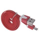 Micro cabo liso colorido do USB do carregador da sincronização dos dados para Samsung