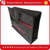 Подгонянная черная Non сплетенная многоразовая хозяйственная сумка с застежкой -молнией