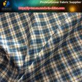 Waren auf Lager! Polyester-buntes Check-Textilgewebe für Kleid (X025-27)