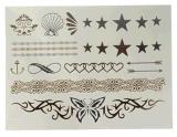 Autoadesivo provvisorio impermeabile metallico d'argento del tatuaggio dell'oro