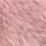 Macののどの毛皮Frの擬似毛皮のアクリルの人工毛皮の長いパイル生地の毛皮