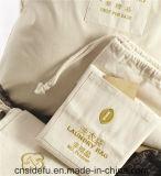 El bolso de encargo cómodo lavable más popular del lavadero del lazo de la lona para el hotel