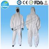 熱い販売のNonwoven安全つなぎ服、非編まれた使い捨て可能な保護作業摩耗